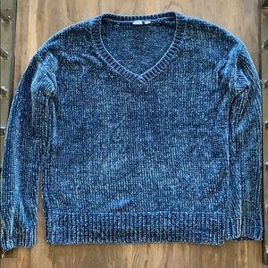 Gap Blue Plush Chenille Knit Super Soft Sweater